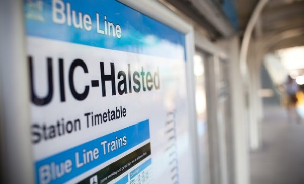 UIC Halsted train stop