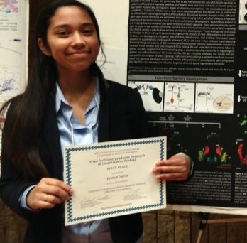 Jocelyn with award